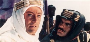 """Damasco, Lawrence, Damasco!"" cena onde Sherif Kharish (Omar Shariff) lembra T.E. Lawrence (Peter O'Toole) sobre o seu objetivo final: a Queda de Damasco"